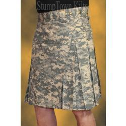 Men's 100% Cotton Ripstop Army Combat Digi Kilt