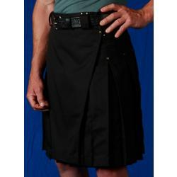 Men's Black Kilt w/Antique Brass Rivets