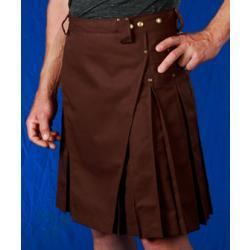 Men's Brown Kilt w/Antique Brass Rivets