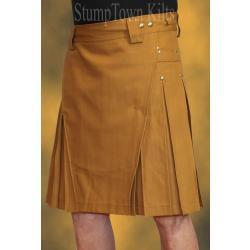 Men's 100% Organic Cotton Canvas Duck Caramel Kilt
