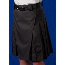 Men's Gray Kilt w/Gunmetal Rivets