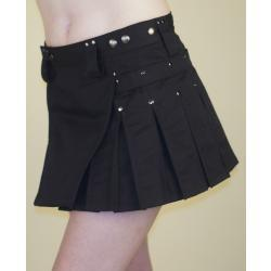 Black MiniKilt with Gun Metal Hardware