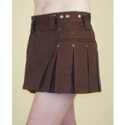 Brown MiniKilt w/Antique Brass Rivets