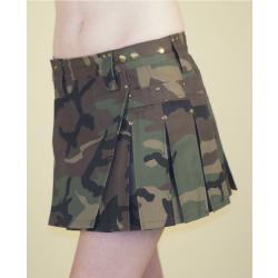 Camo MiniKilt w/Antique Brass Rivets
