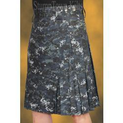 Men's Navy Cotton Ripstop Kilts