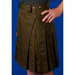 Men's Olive Kilt w/Gunmetal Rivets