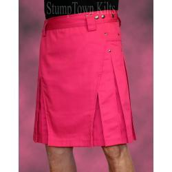 Men's Pink Kilt w/Gunmetal Rivets