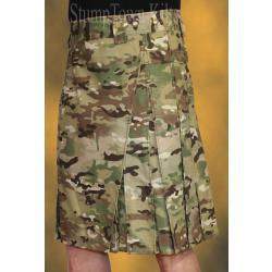 Men's 100% Cotton Ripstop Quad Camo Kilt