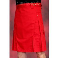Men's Red Kilt w/Antique Brass Rivets