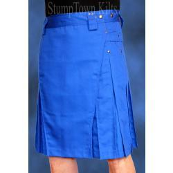 Men's Royal Blue Kilt w/Gunmetal Rivets