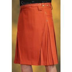 Men's Rust Cotton Canvas Duck Kilts